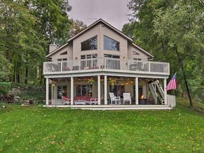 Photo for South Haven Lake House w/Deck, Views & Boat Dock!