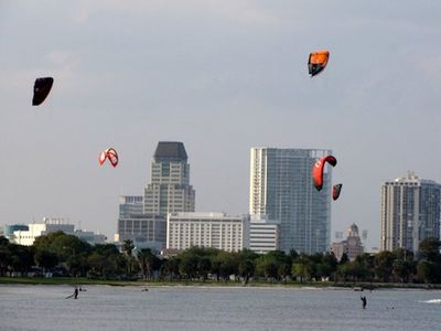 Amazing views of  downtown St. Petersburg skyline and Tampa Bay