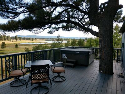 """Photo for """"The Caddy Shack""""Pool Table/Hot Tub/Deck/2 fireplaces/Amazing View/ Pet Friendly"""