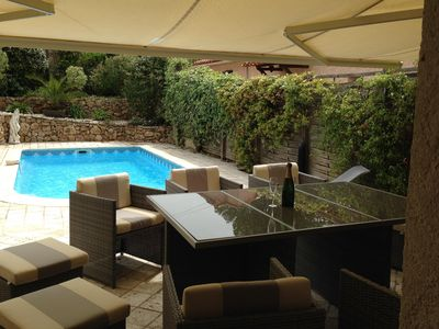 Photo for Air-conditioned house rental with heated pool in Fréjus in private domain