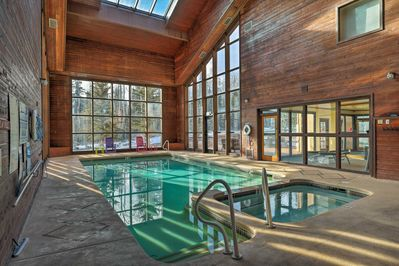 Enjoy access to Copper Chase amenities, like this heated indoor pool!