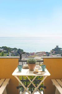 Photo for Beautiful accommodation with terrace overlooking the sea, air conditioning and wifi