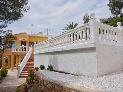Photo for BEAUTIFUL DETACHED VILLA FOR 11 PERSONS, PRIVATE POOL, WIFI, A/C, SEAVIEW!!