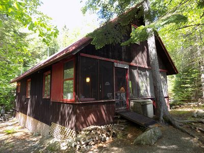 Photo for Rustic cabin on Mooselookmeguntic Lake.  Very Private!