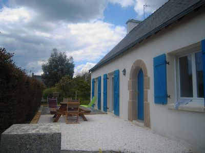 Photo for Holiday house, 2 km from the sea, in the town of Concarneau, near ports.