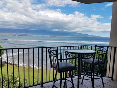 Photo for Dinner for 2 Oceanfront on Your Lanai!