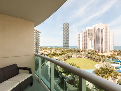 Photo for 2 BR Ocean View Condo, Across from Sunny Isles Beach