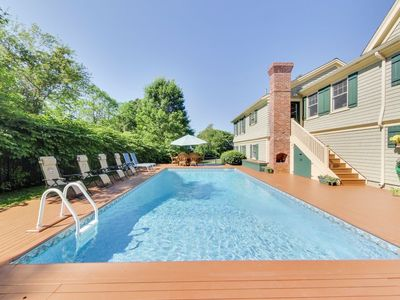 Photo for 5+ Acre, Resort-Reunion Estate Sleeps 16 in Two Homes. Large Heated Pool, 059-WB