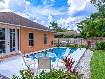 Photo for Home with Pool walking distance to Beach