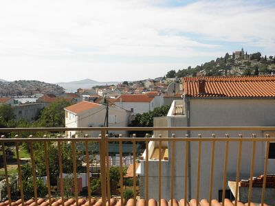 Photo for Three bedroom apartment with terrace and sea view Tribunj (Vodice) (A-12529-a)