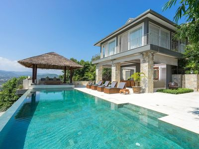Photo for A large 6 bedroom villa in a private hilltop location  Baan Kimsacheva is entered down a smooth sand
