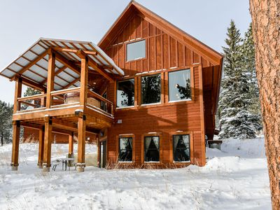 Photo for Modern Cabin with Hot Tub & Access To Swimming Pool, Paved Roads