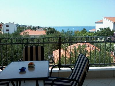 Photo for One bedroom apartment with terrace and sea view Ražanj (Rogoznica)