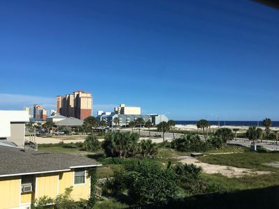 Photo for NEW LISTING! Oceanview studio condo in the heart of Gulf Shores, walk to dining