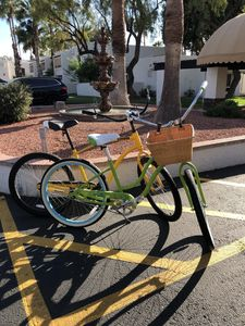 Guests enjoy free use of his and her cruiser bikes!