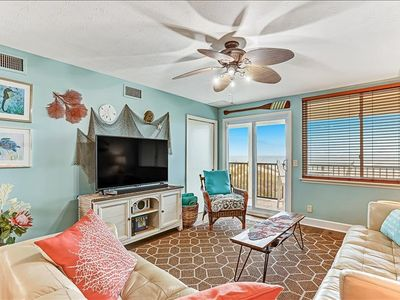 This adorable, inviting condo is small but has it all! Breathtaking view of the Atlantic Ocean.Beach and lounge chairs are included, just bring your beach towels and flipflops.