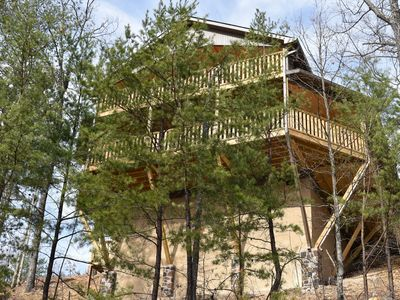 Photo for BRAND NEW CABIN with AMAZING Mountain Views in Wears Valley/Foothills Parkway