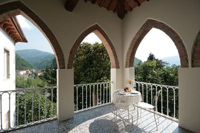 Terracotta arches of loggia verandah