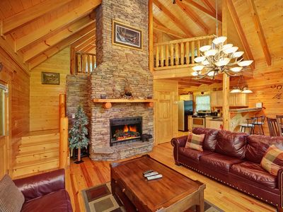 Photo for New 2 Bedroom Luxury Cabin in Gatlinburg