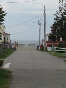 View of Ocean from street in front of Cottage, quick 1 min walk