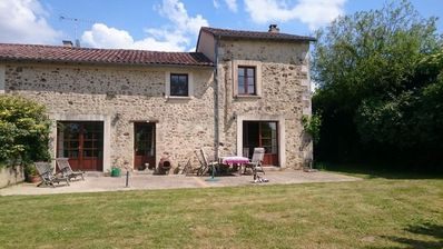 Photo for Really charming French house with 4000 m2 of garden in the middle of the village, Dep. Deux-Sevres