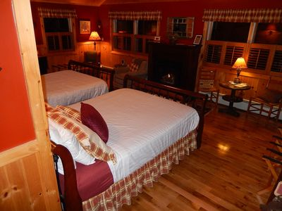 Photo for Spacious Adirondack Bed & Breakfast Suite with fireplace