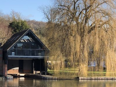 Photo for Stunning boathouse with balcony in Henley Centre