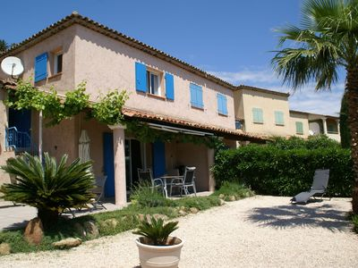 Photo for Lovely holiday home on the Ste-Maxime golf course, with swimming pool and close to the beach