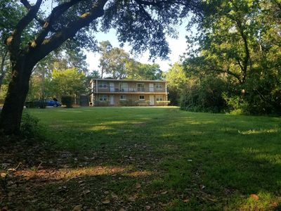 Photo for 2 bedroom/1 bath apt on 3 private park-like acres only 3 blocks from the water