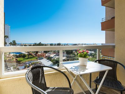 Photo for Air-conditioned Apartment on the Beach with Balcony, Wi-Fi & Fantastic View