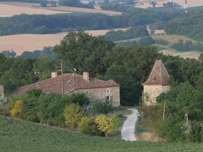 Photo for Stone house of the 18th century in Gascony with pigeon park a wooded ha