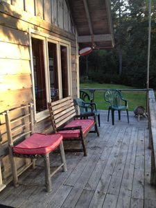 The front porch is great for sitting, especially in the afternoon through sunset