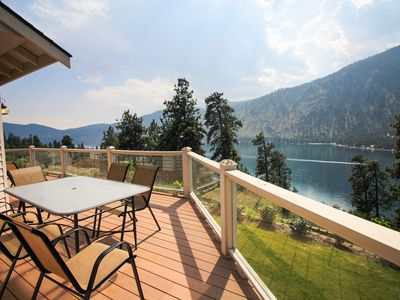 Photo for Spacious dog-friendly home w/ lake view, wraparound deck, & hot tub