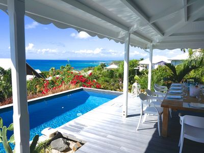 Photo for Bagataye Villa - exceptional 180° view of sea and islands, 100 m from the sea