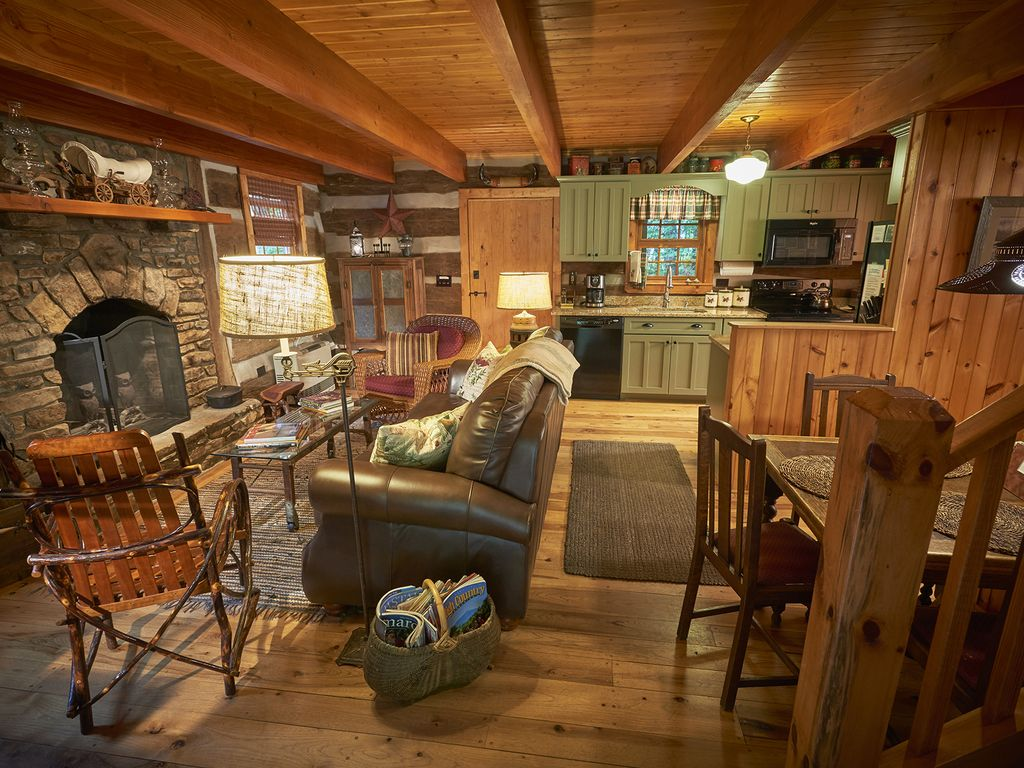 luxury boone in from property creek fireplace image conservation nc tub cabins bed s the secluded campfire area setting ha cabin near deal yards log beach hot home pit