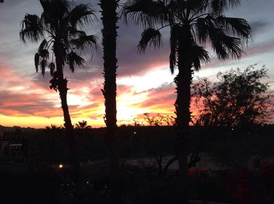 Sunrise from our patio