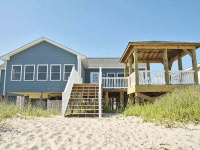 Photo for A Little Nauti: 3 Bed/2.5 Bath Oceanfront Home with Deck and Gazebo