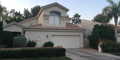 Photo for Beautiful Home Backing To Golf Course. Central location, gated, private spa.