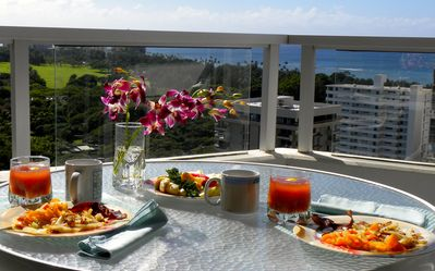 From the 22nd floor lanai enjoy the view..the ocean, the boats & Diamond Head !!