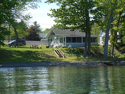 Easy Livin' Cottage viewed from Seneca Lake.