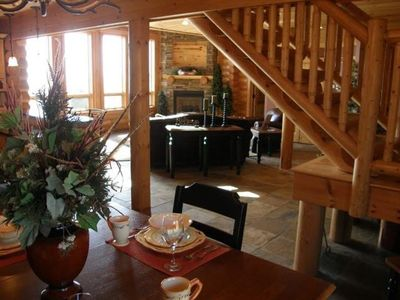 Photo for Luxurious Log Home with Mille Lacs Lake Sunrise Views