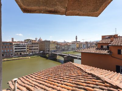 Photo for Panoramic Apartment steps away from Ponte Vecchio