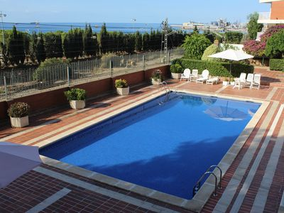 Photo for Apartment in Robert D'aguilo with Pool overlooking the sea, steps from the beach