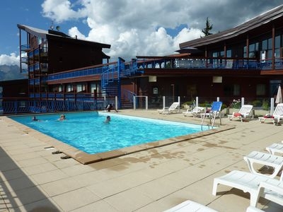 Photo for Arcs 1800, Le Ruitor, warm 2 rooms, swimming pool