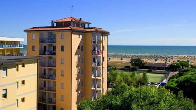 Photo for Large beachfront apartment in Bibione