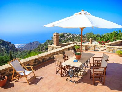 Photo for All year around family friendly with terraces and courtyard fantastic sea views