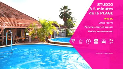 Photo for Location studio Ste Anne Martinique for 3 people