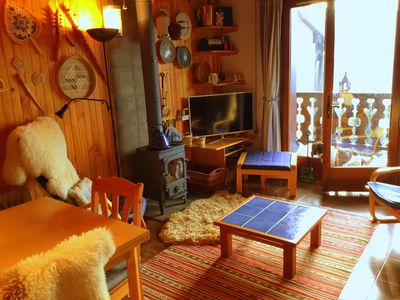 Photo for Well Equipped Ski Apartment - Next to the slopes - available adjoining apartment