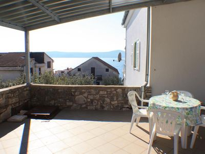 Photo for One bedroom apartment with terrace and sea view Sveti Petar, Biograd (A-3251-c)