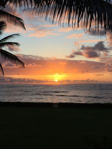 Sunrise from our lanai.